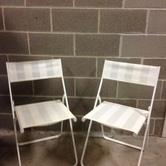 White chairs x 5 hire