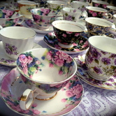 Teacup,saucer & cakeplate hire