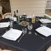 Blk Table Cloths x10  hire