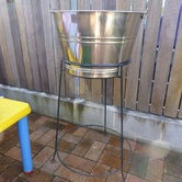 Large Ice Bucket & Stand hire