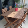 Outdoor dining set hire