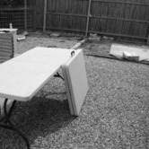 Bi-fold trestle table. hire
