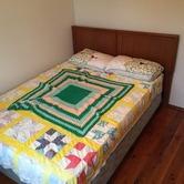 Queen bed with mattress hire