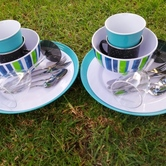 Camping crockery cutlery hire