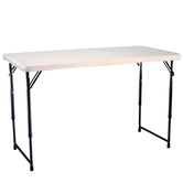 Folding plastic table hire