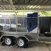 8x5 caged trailer 2t  hire