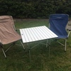 Camping chairs and table hire